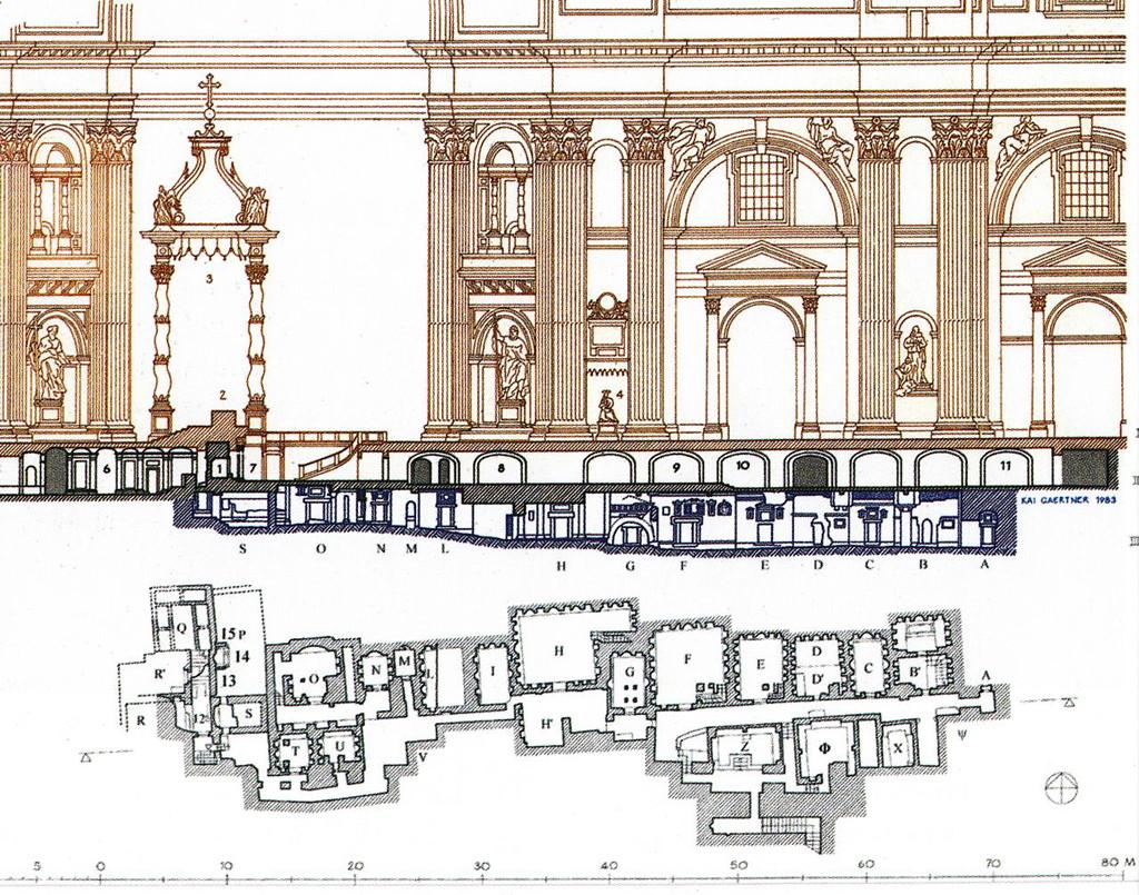 Священные гроты ватикана, ватикан, подземный рим, рим, достопримечательности рима, некрополь, гроты ватикана, план гроты ватикана