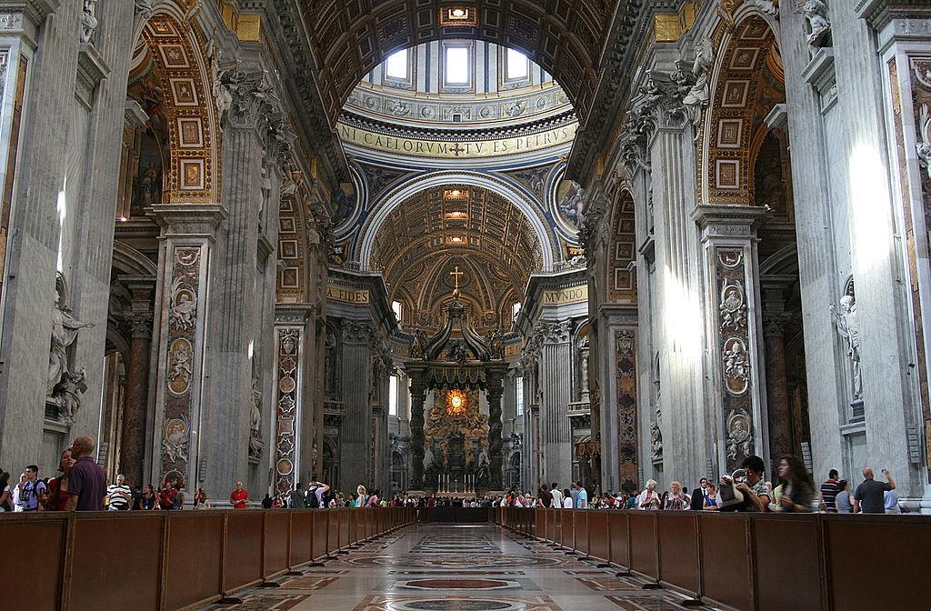 Собор Святого Петра, Ватикан, Рим, Базилика сан пьетро, достопримечательности Рима, соборы Рима, базилики Рима