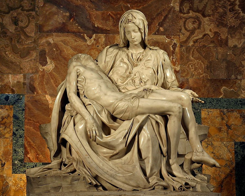пьета, микеланджело, скульптуры рима, достопримечательности рима, собор святого петра, базилика сан пьетро