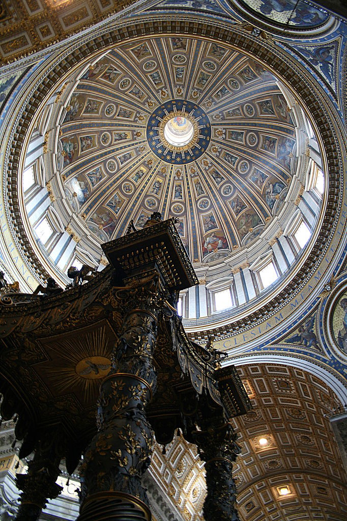 Собор Святого Петра, Ватикан, Рим, Базилика сан пьетро, достопримечательности Рима, соборы Рима, базилики Рима купол микеланджело