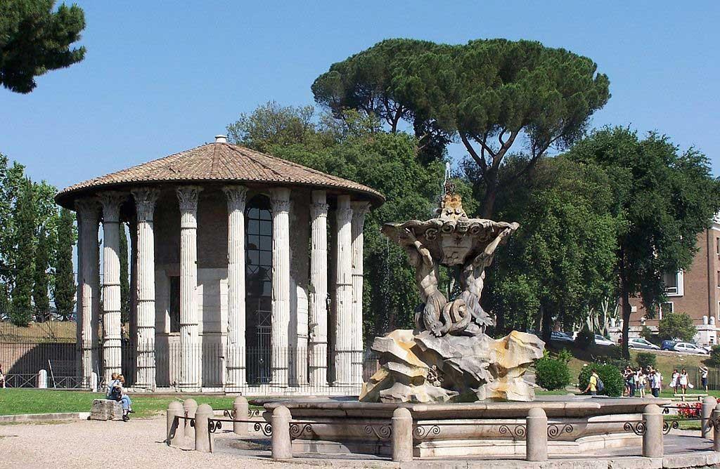 Храм геркулеса, бычий форум, древнейшие храмы рима,храмы рима, рим античный, достопримечательности рима, римский форум, древние храмы, римские руины