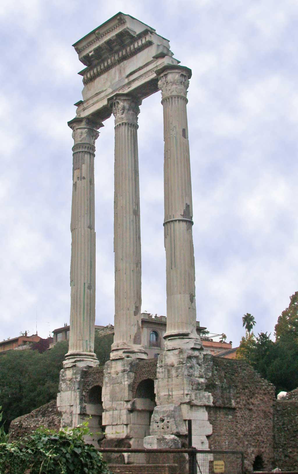 храм диоскуров, диоскуры,древнейшие храмы рима,храмы рима, рим античный, достопримечательности рима, римский форум, древние храмы, римские руины