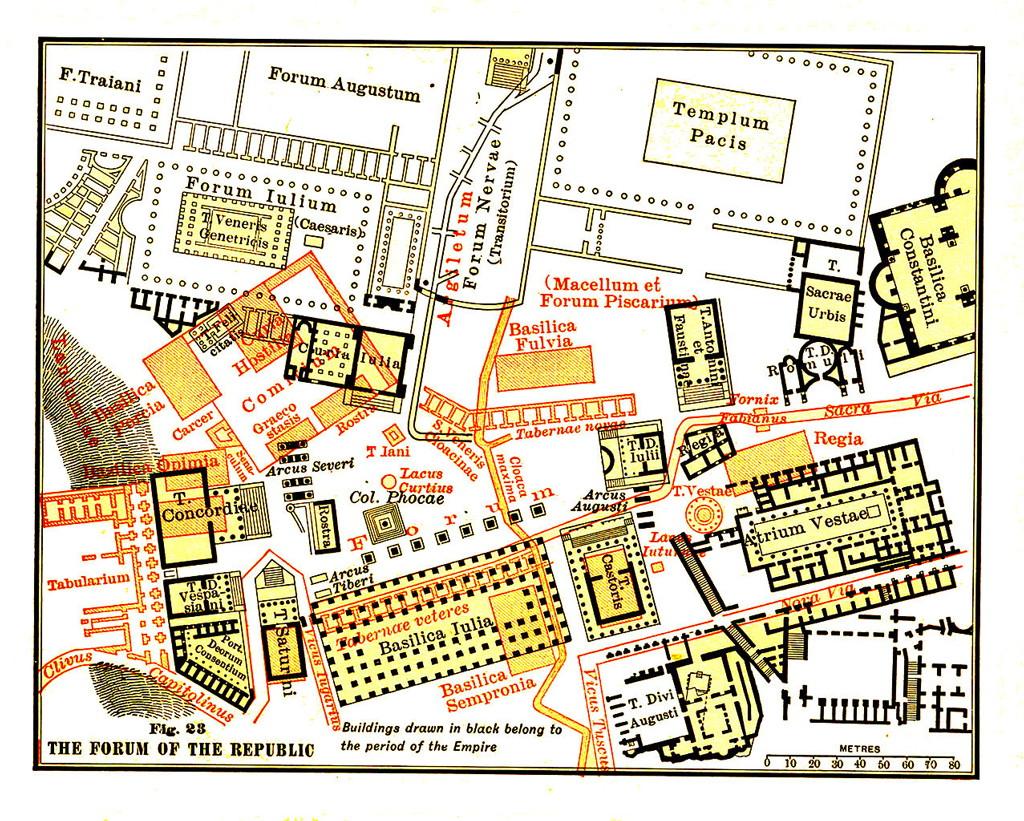 римский форум, форум рим, форум древний рим, римский форум карта