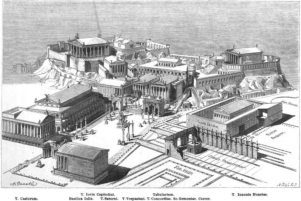 Рим, римский форум, древний рим, римская империя, древний храмы рима, история рима, форум в рима, рим античный, памятники архитектуры, достопримечательности рима, план римского форума, реконструкция римского форума