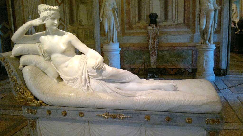 Галерея Боргезе, музеи Рима, канова, скульптура рима, паолина боргезе