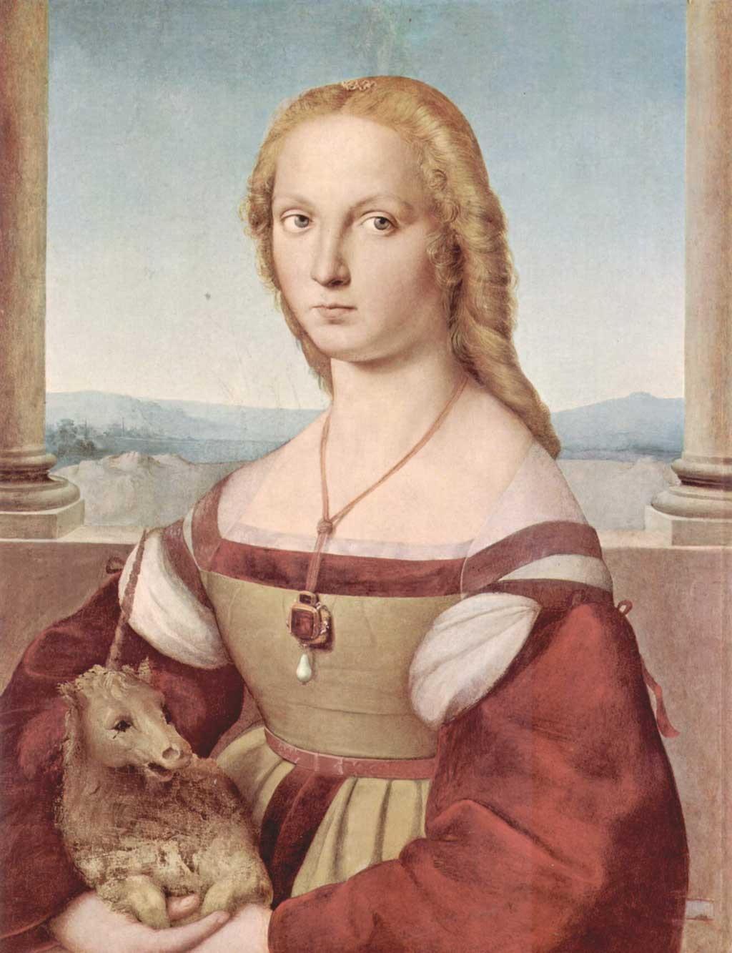 Галерея Боргезе, музеи Рима, рафаель санти, картины рафаеля, дама с единорогом