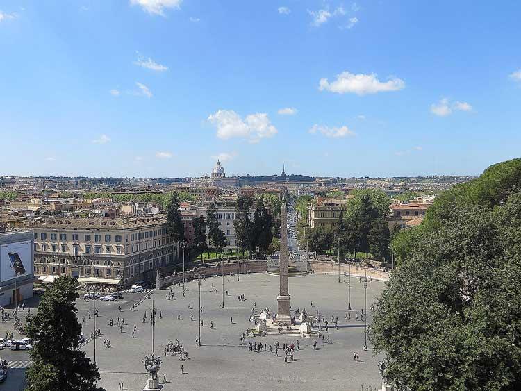 пьяцца дель пополо, Смотровые площадки Рима, обзорные площадки Рима