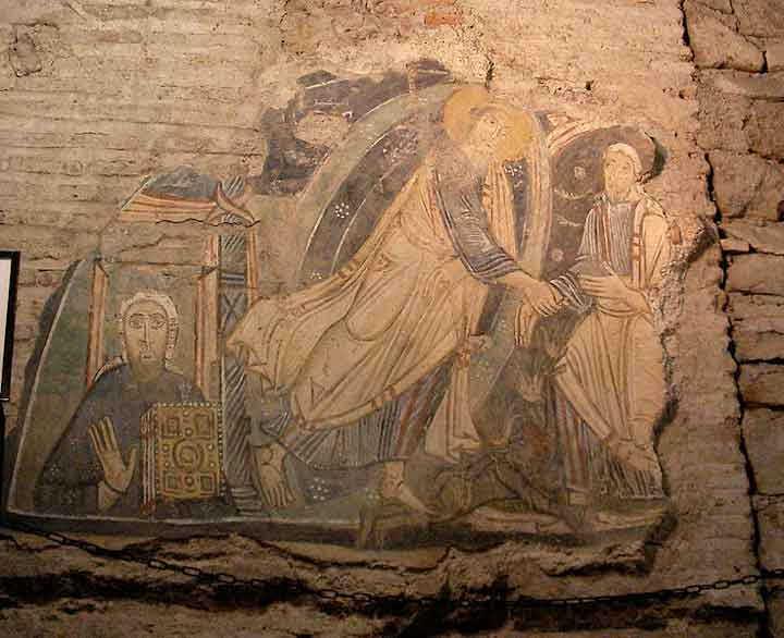 Древние мозаики базилики Святого Климента в Риме