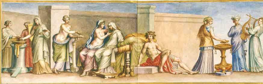 Древняя фреска свадьба в древнем риме