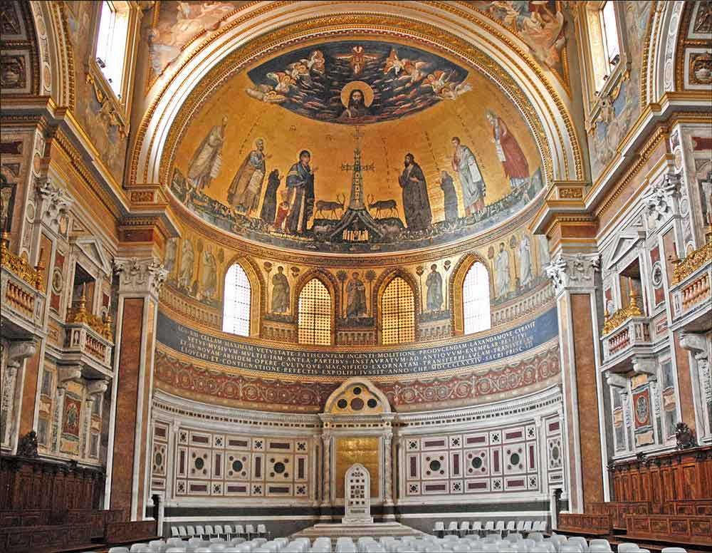 Базилика Сан Джованни ин Латерано Рим Латеранский собор интерьер базилики сан джованни ин латерано каяедра папы римского
