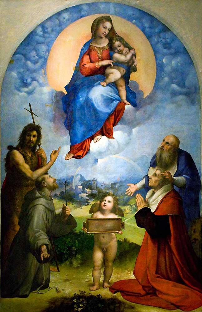 рафаэль рим мадонна фолиньо картины рафаэля галерея пинакотека ватикана