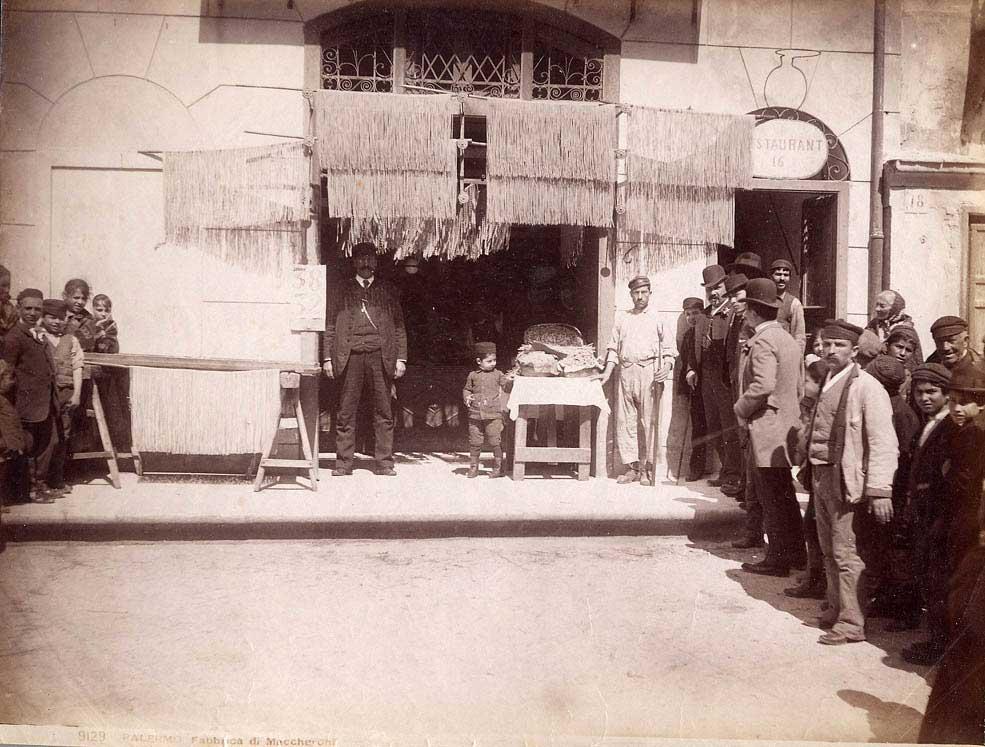 Частная фабрика по производству пасты. Конец XIX века