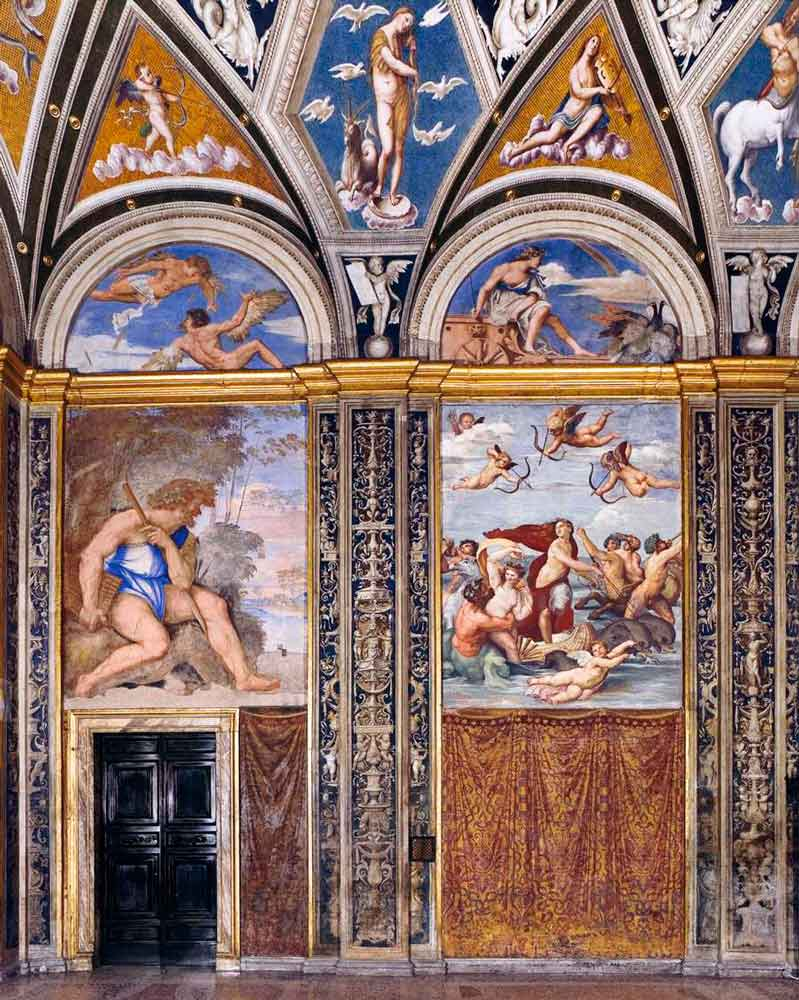вилла фарнезина рим рафаэль фрески лоджии рафаэля лоджия галатеи