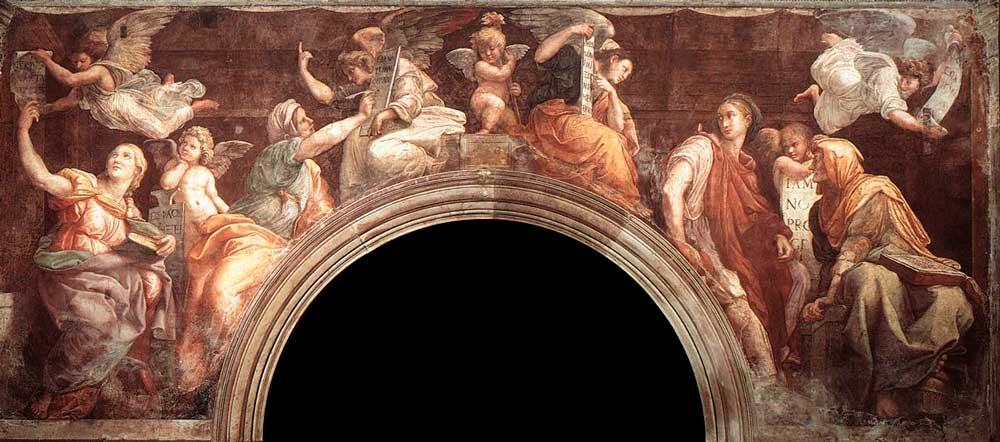 Сивиллы и ангелы фрески рафаэль рим Капелла Киджи Базилика Санта Мария делла Паче