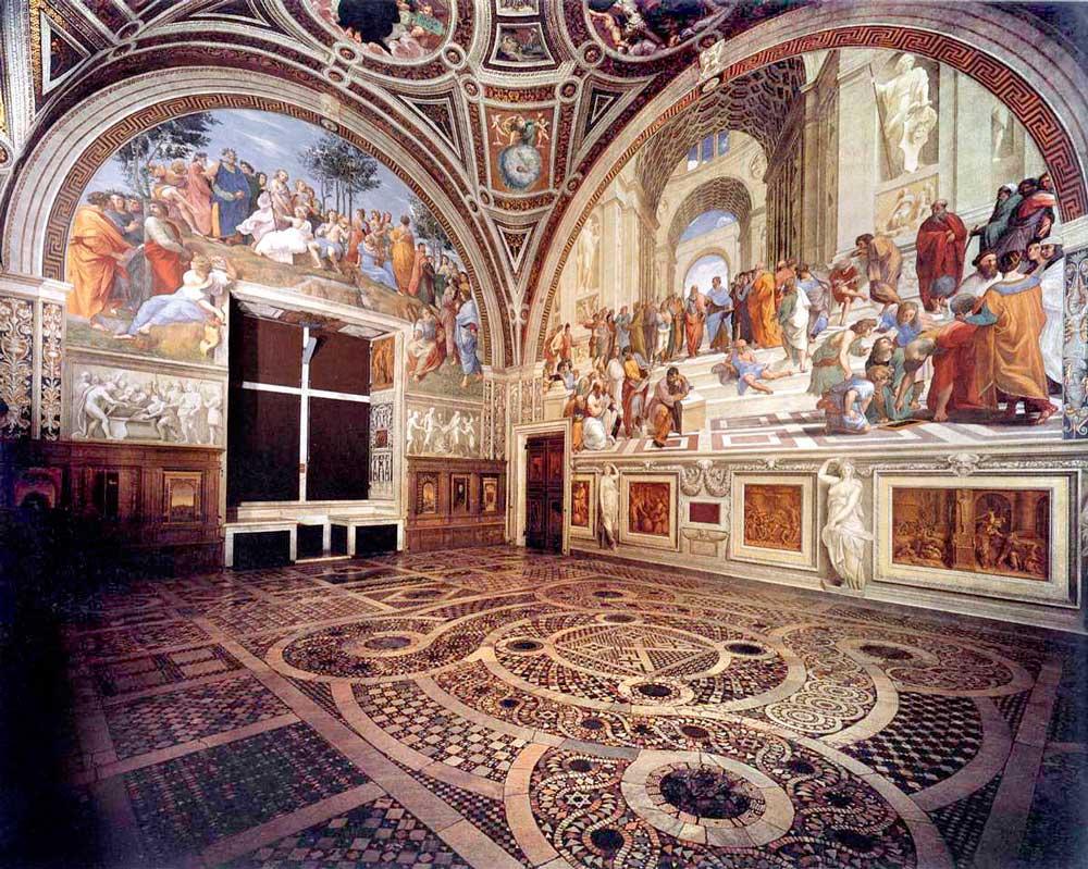 Станцы Рафаэля фрески Апостольский дворец достопримечательности Ватикан
