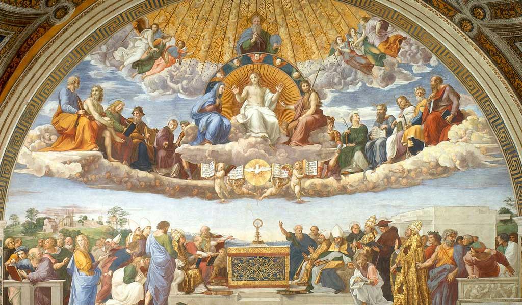 Ватикан Станцы Рафаэль Санти Рим  Диспут о Таинстве
