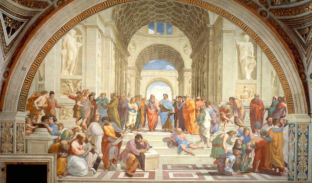 Ватикан Станцы Рафаэль Санти Рим  Афинская школа