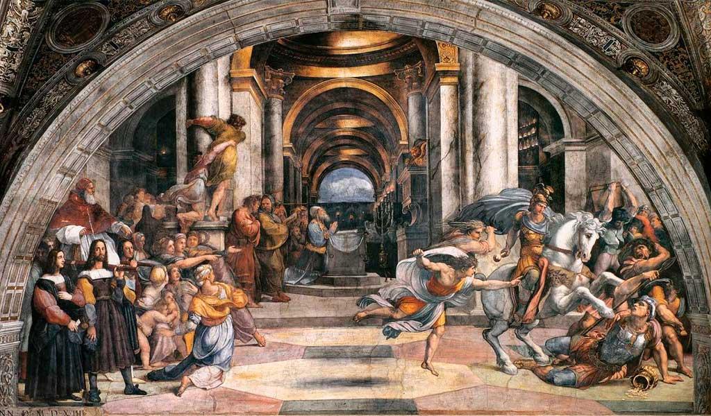 Ватикан Станцы Рафаэль Санти Рим Изгнание Элиодора