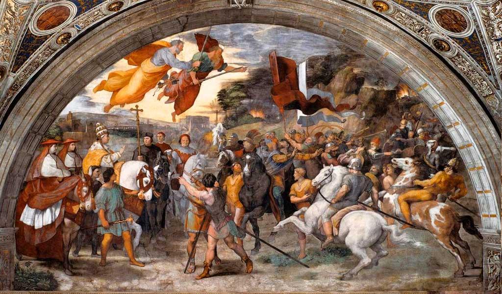 Ватикан Станцы Рафаэль Санти Рим Встреча Льва Аттилой