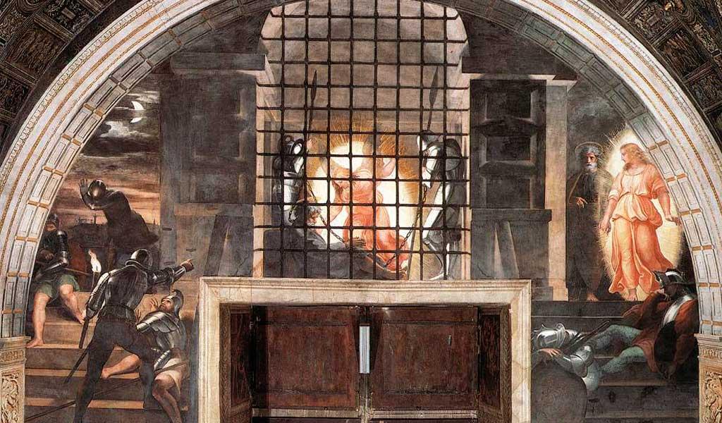 Ватикан Станцы Рафаэль Санти Рим Освобождение Святого Петра