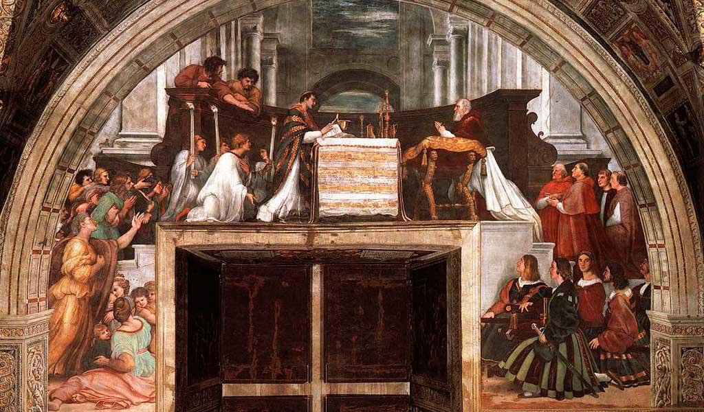 Ватикан Станцы Рафаэль Санти Рим Месса Больсене