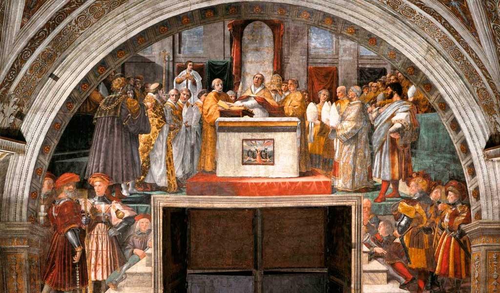 Ватикан Станцы Рафаэль Санти Рим Клятва Льва