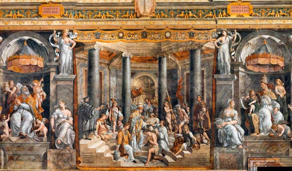 Ватикан Станцы Рафаэль Санти Рим Крещение Константина