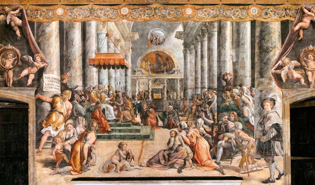 Ватикан Станцы Рафаэль Санти Рим Дарение Рима