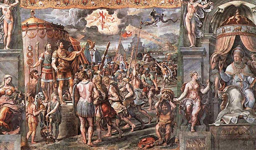 Ватикан Станцы Рафаэль Санти Рим Видение Креста