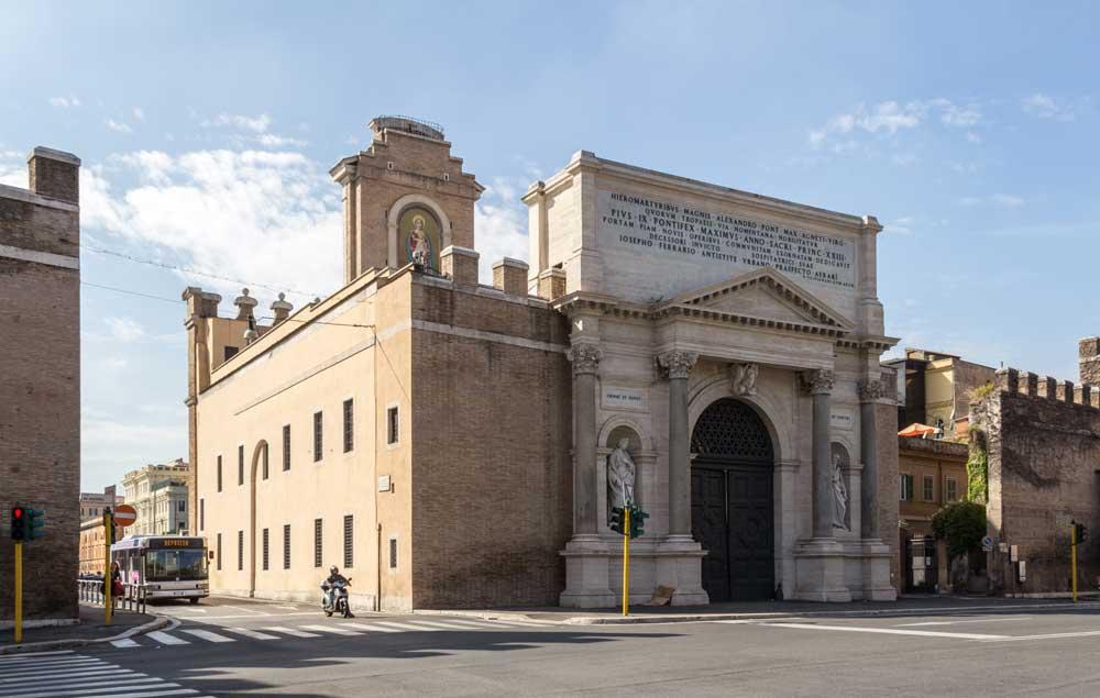 порта пиа древний рим римские городские стены ворота древний рим