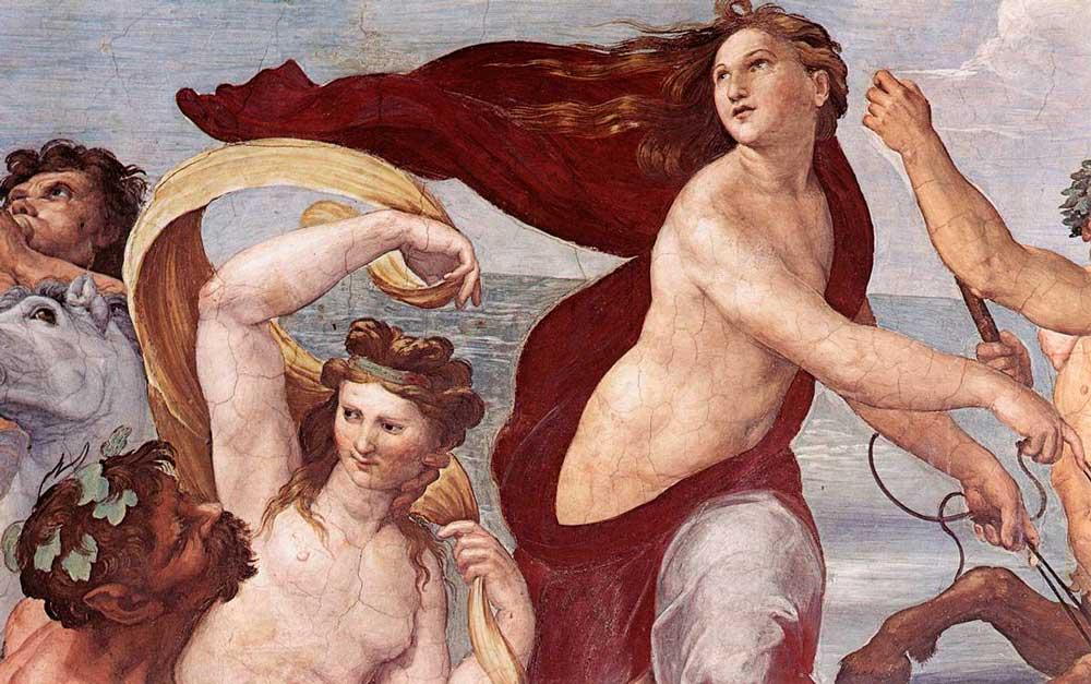 Рафаэль Санти Рим фреска триумф галатеи вилла фарнезина работы рафаэля санти