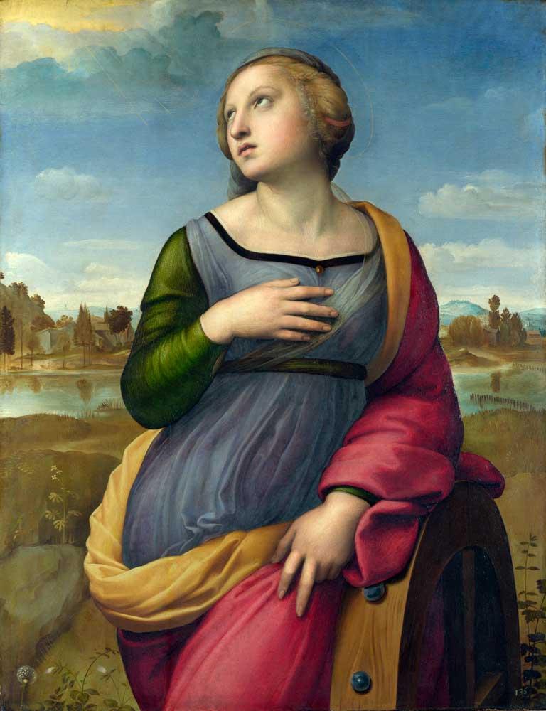 Рафаэль Санти Рим святая катерина александрийсая работы рафаэля санти