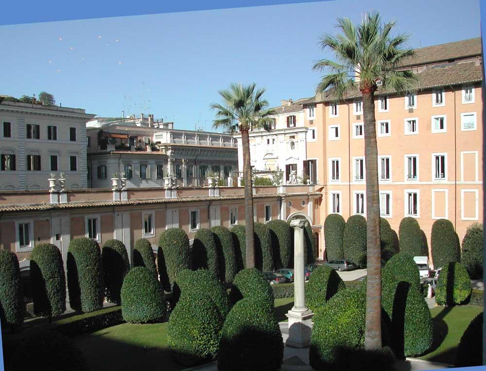 палаццо дворец колонна рим внутренний двор