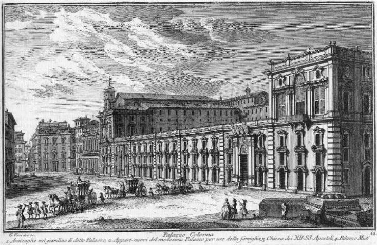 палаццо дворец колонна рим род колонна