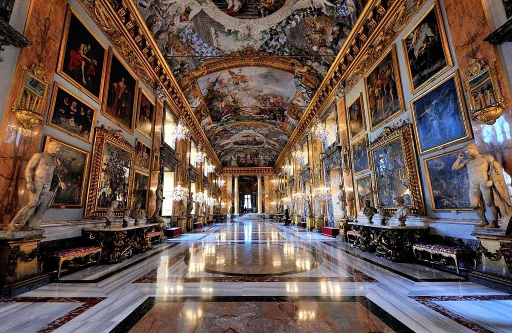 галерея колонна интерьер палаццо колонна