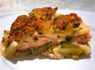 Филе лосося запеченное в духовке с картофелем и цуккини