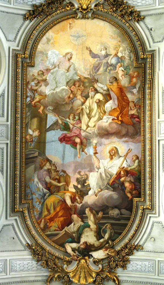 рим христианский соборы базилики рима холм целий челио сан грегорио маньо святого григория великого целии святого апостола андрея стиль косматеско