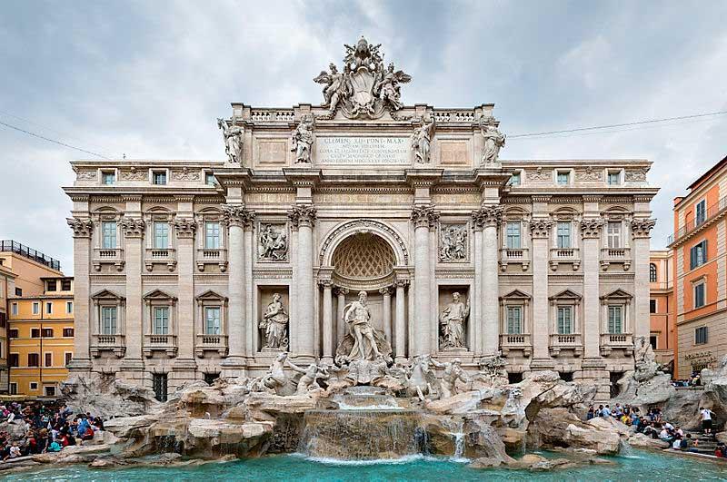 Фонтан Треви, Достопримечательности Рима