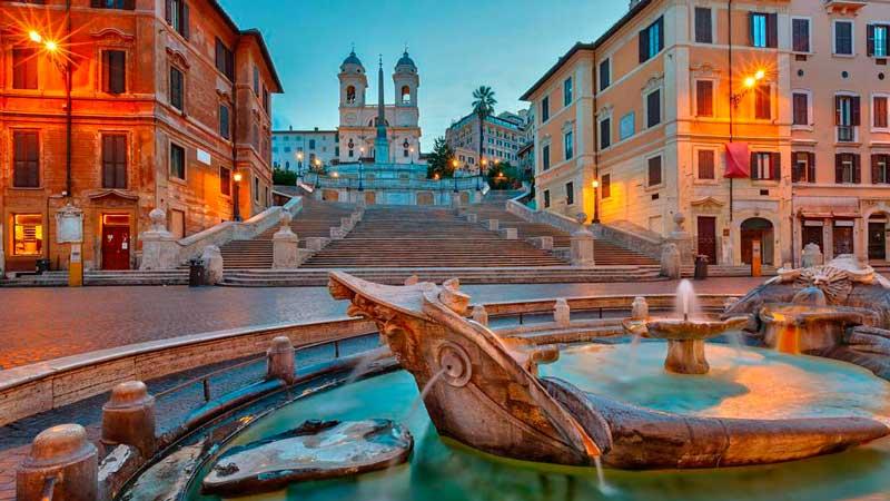 достопримечательности Рима, испанская лестница