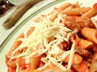 Итальянская паста с мясными колбасками Сальсичча (Salsiccia)