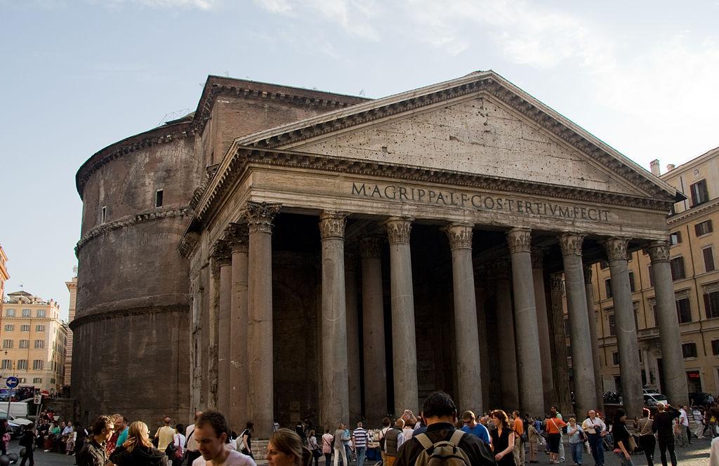 главные достопримечательности Рима вечный город что посмотреть куда сходить история рима храм всех богов пантеон символ рима древний древнеримский храм