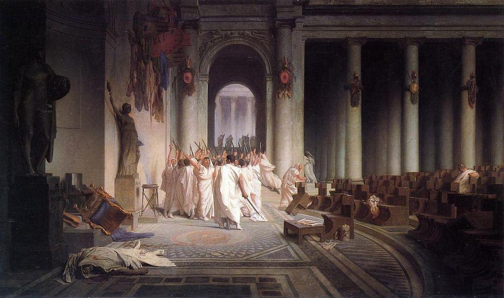 убийство Гай Юлий Цезарь история древнего Рима заговор сенаторов курия помпея предательство мартовские иды 15 марта