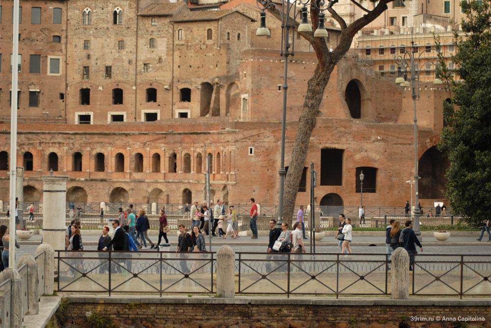 Улица Императорских форумов, достопримечательности Рима