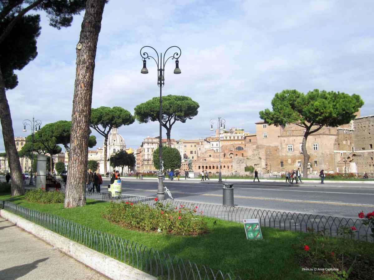 улица форум империале , императорских_форумов , рим