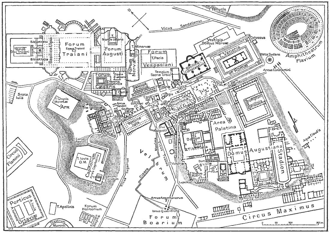 Карта_палатин рим палатин_схема