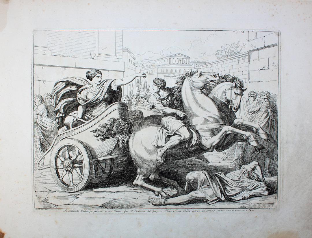 древний Рим древнеримский царь Сервий Туллий Туллия колесница бартоломео пинелли арка борджия история рима