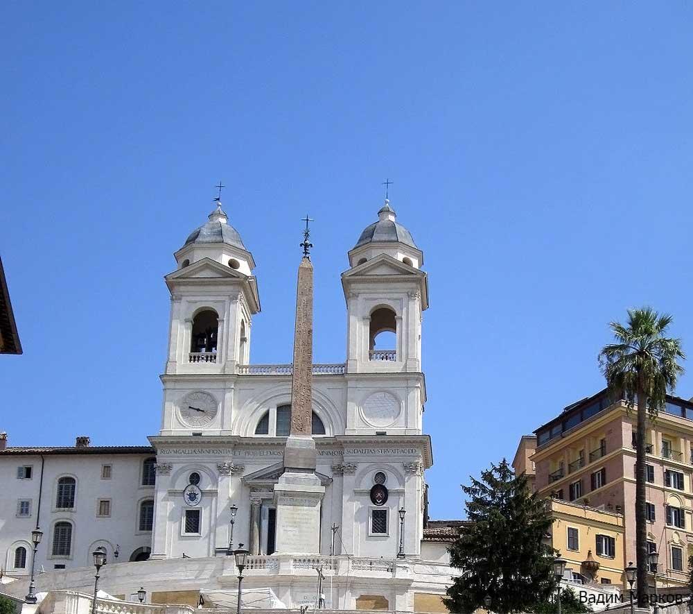 Церковь Святой Троицы рим, trinita dei monti