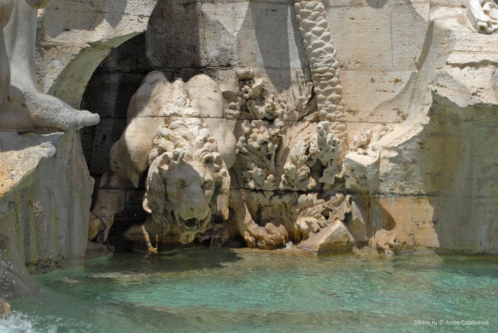 фонтаны рима фонтан четырех рек лоренцо бернини пьяцца площадь навона эпоха возрождения главные достопримечательности рима