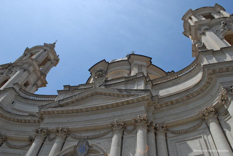 итальянский архитектор скульптор художник эпоха возрождения великие мастера рим  в риме  церкви базилики храмы рима сан аньезе ин агоне площадь навона церковь святой агнессы