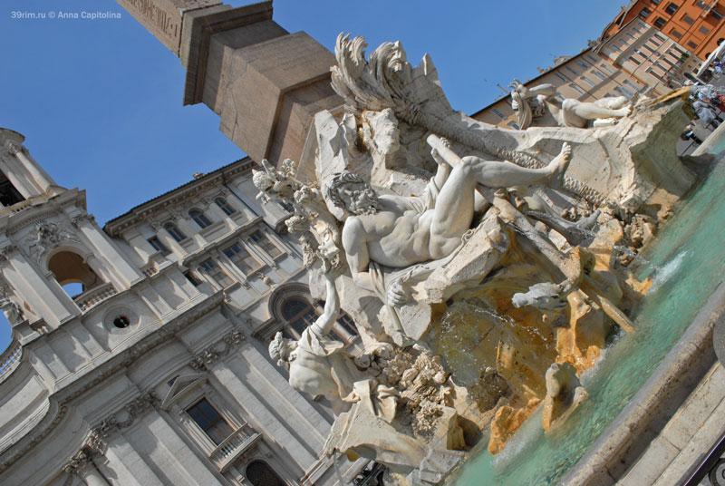 итальянский архитектор скульптор художник эпоха возрождения великие мастера рим  в риме  фонтаны рима площадь навона джан лоренцо бернини фонтан четырех рек
